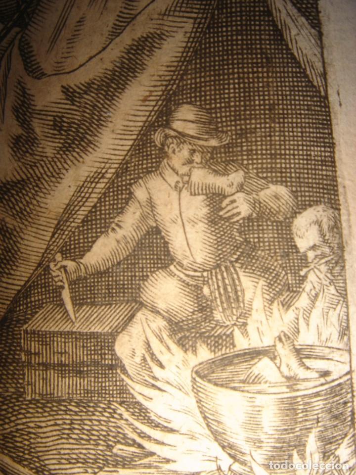 Arte: RARÍSIMO GRABADO, ANTROPOFAGIA ENTRE ESPAÑOLES EN BUENOS AIRES, ORIGINAL, DE BRY, FRANKFURT,1655. - Foto 8 - 193944657