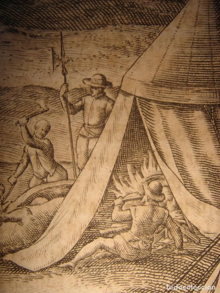 Arte: RARÍSIMO GRABADO, ANTROPOFAGIA ENTRE ESPAÑOLES EN BUENOS AIRES, ORIGINAL, DE BRY, FRANKFURT,1655. - Foto 9 - 193944657