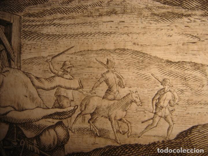 Arte: RARÍSIMO GRABADO, ANTROPOFAGIA ENTRE ESPAÑOLES EN BUENOS AIRES, ORIGINAL, DE BRY, FRANKFURT,1655. - Foto 10 - 193944657