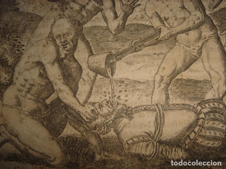 Arte: RARÍSIMO GRABADO, INDIOS VIERTEN ORO LÍQUIDO SOBRE ESPAÑOLES, ORIGINAL, DE BRY, FRANKFURT,1655. - Foto 7 - 193944892