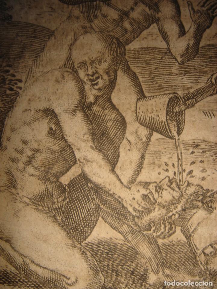Arte: RARÍSIMO GRABADO, INDIOS VIERTEN ORO LÍQUIDO SOBRE ESPAÑOLES, ORIGINAL, DE BRY, FRANKFURT,1655. - Foto 13 - 193944892