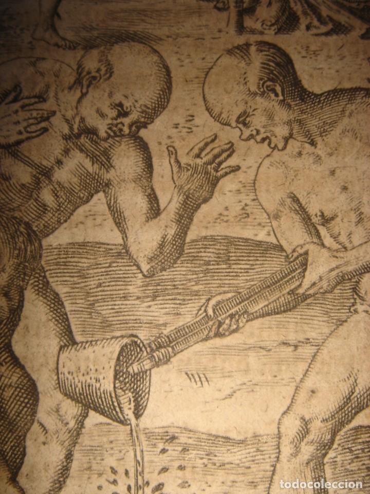 Arte: RARÍSIMO GRABADO, INDIOS VIERTEN ORO LÍQUIDO SOBRE ESPAÑOLES, ORIGINAL, DE BRY, FRANKFURT,1655. - Foto 14 - 193944892