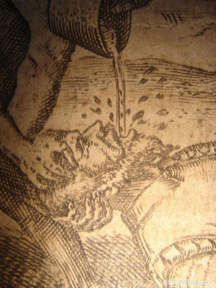 Arte: RARÍSIMO GRABADO, INDIOS VIERTEN ORO LÍQUIDO SOBRE ESPAÑOLES, ORIGINAL, DE BRY, FRANKFURT,1655. - Foto 15 - 193944892
