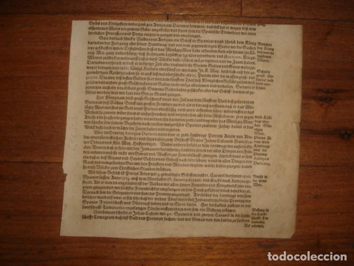 Arte: RARÍSIMO GRABADO, INDIOS VIERTEN ORO LÍQUIDO SOBRE ESPAÑOLES, ORIGINAL, DE BRY, FRANKFURT,1655. - Foto 17 - 193944892