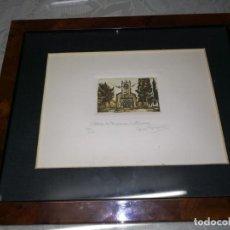 Arte: GRABADO DE IGLESIA DE PORQUERES CATALUNYA 164/200 MIREN FOTOS . Lote 194093800