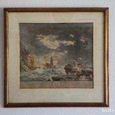 Arte: LA TEMPETÉ _ J J BALECHEU SCULP _ VERNET PINXIT. Lote 194133177