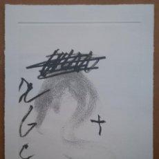Arte: ANTONI TAPIES GRABADO ORIGINAL FIRMADO A LAPIZ Y NUMERADO 27 / 35 AÑO 2007 POEMES JORDI CARRIÓ. Lote 194151012