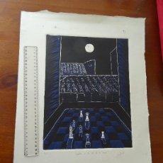 Arte: AJEDREZ A LA LUZ DE LA LUNA, FIRMADO. Lote 194188130