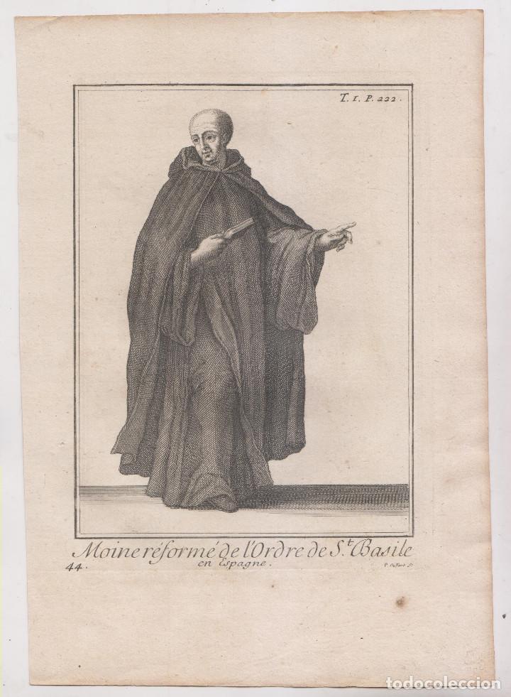 ÓRDENES RELIGIOSAS. MENOR REFORMADO DE LA ORDEN DE SAN BASILIO. SIGLO XVIII. 25 X 17,5 CM. (Arte - Grabados - Antiguos hasta el siglo XVIII)