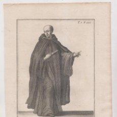 Arte: ÓRDENES RELIGIOSAS. MENOR REFORMADO DE LA ORDEN DE SAN BASILIO. SIGLO XVIII. 25 X 17,5 CM.. Lote 194190732