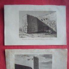 Arte: TARRAGONA.-TORRE Y MURO ROMANO.-TORRE DEL ARZOBISPO.-A. ROCA.-GRABADOS.-SIGLO XIX.. Lote 194225915