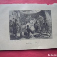 Arte: MUERTE DE ALMANZOR.-GRABADO.-SIGLO XIX.. Lote 194226256
