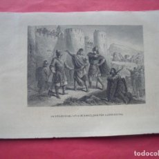 Arte: UN EPISODIO DEL SITIO DE BARCELONA POR LUDOVICO PIO.-BARCELONA.-GRABADO.-SIGLO XIX.. Lote 194226405
