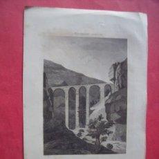 Arte: PUENTE DE SAN PABLO.-MONUMENTOS MODERNOS.-GRABADO.-SIGLO XIX.. Lote 194226887