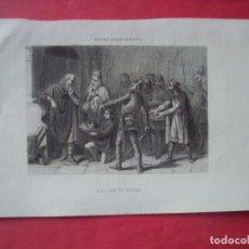 Arte: ELECCION DE WAMBA.-GRABADO.-SIGLO XIX.. Lote 194227168
