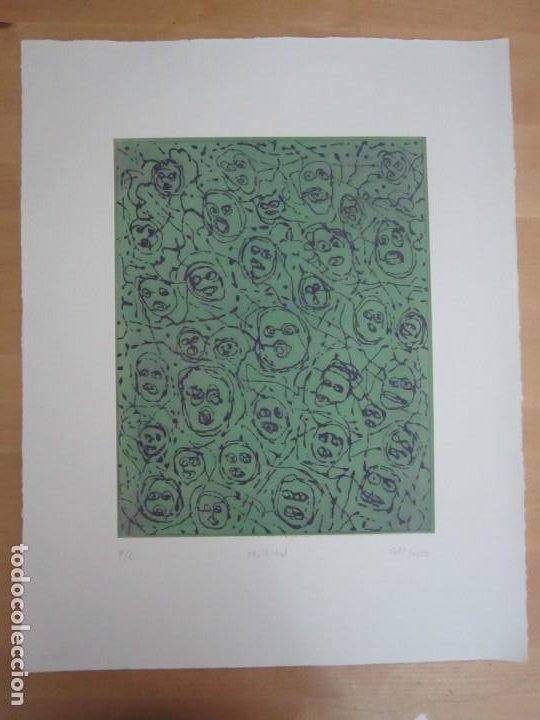 Arte: Multitud - Grabado de GAP (Guillermo Antón Pardo) - 39x49,5 cm - Aguatinta al azúcar - Foto 7 - 194227235