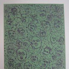 Arte: MULTITUD - GRABADO DE GAP (GUILLERMO ANTÓN PARDO) - 39X49,5 CM - AGUATINTA AL AZÚCAR. Lote 194227235