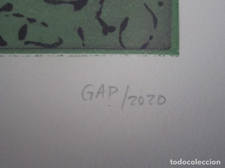 Arte: Multitud - Grabado de GAP (Guillermo Antón Pardo) - 39x49,5 cm - Aguatinta al azúcar - Foto 4 - 194227235