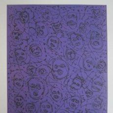 Arte: MULTITUD - GRABADO DE GAP (GUILLERMO ANTÓN PARDO) - 39X49,5 CM - AGUATINTA AL AZÚCAR. Lote 194227492