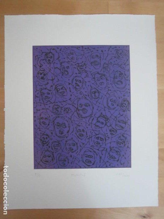 Arte: Multitud - Grabado de GAP (Guillermo Antón Pardo) - 39x49,5 cm - Aguatinta al azúcar - Foto 5 - 194227492