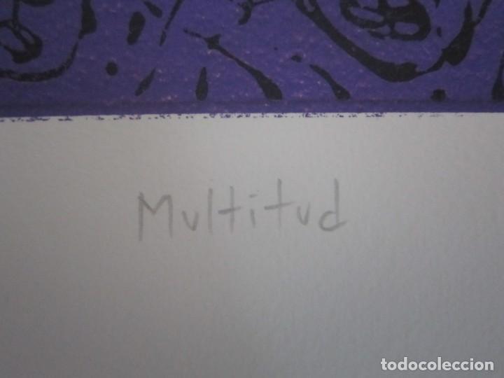 Arte: Multitud - Grabado de GAP (Guillermo Antón Pardo) - 39x49,5 cm - Aguatinta al azúcar - Foto 7 - 194227492