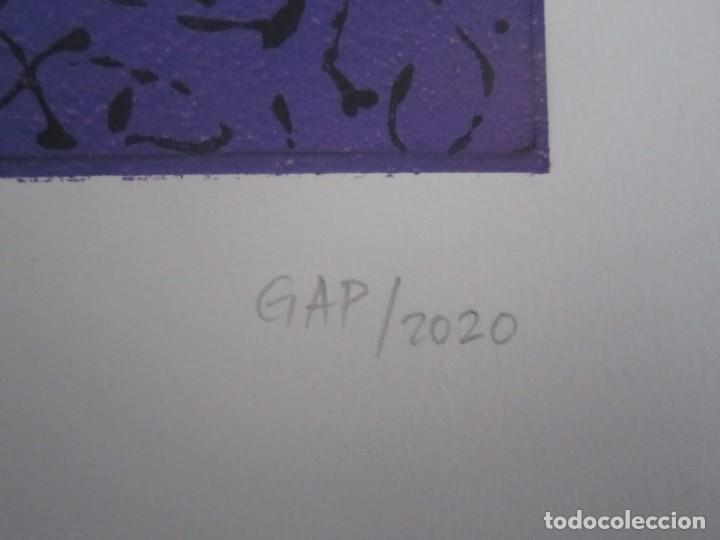 Arte: Multitud - Grabado de GAP (Guillermo Antón Pardo) - 39x49,5 cm - Aguatinta al azúcar - Foto 8 - 194227492