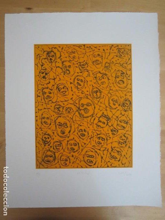 Arte: Multitud - Grabado de GAP (Guillermo Antón Pardo) - 39x49,5 cm - Aguatinta al azúcar - Foto 9 - 194227660