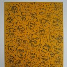 Arte: MULTITUD - GRABADO DE GAP (GUILLERMO ANTÓN PARDO) - 39X49,5 CM - AGUATINTA AL AZÚCAR. Lote 194227660