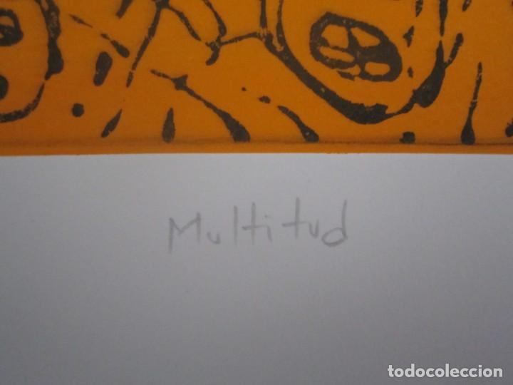 Arte: Multitud - Grabado de GAP (Guillermo Antón Pardo) - 39x49,5 cm - Aguatinta al azúcar - Foto 4 - 194227660
