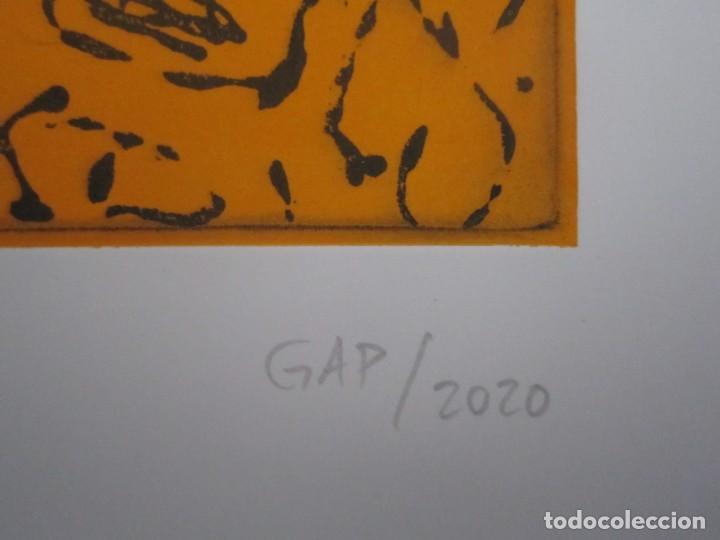 Arte: Multitud - Grabado de GAP (Guillermo Antón Pardo) - 39x49,5 cm - Aguatinta al azúcar - Foto 5 - 194227660