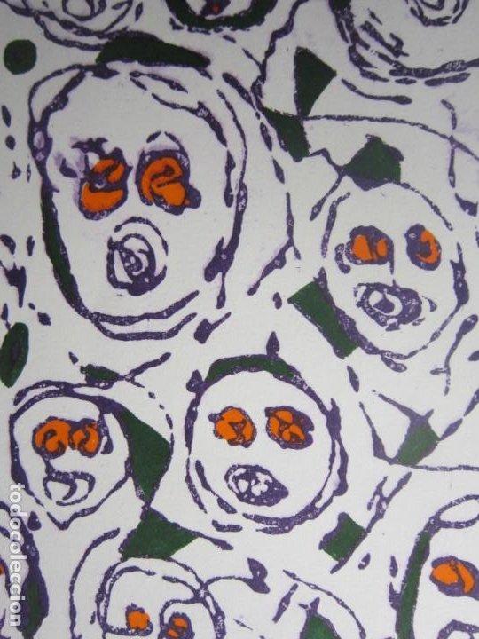 Arte: Multitud - Grabado de GAP (Guillermo Antón Pardo) - 39x49,5cm - Aguatinta al azúcar coloreada a mano - Foto 9 - 194227953