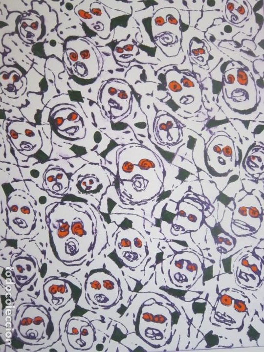 Arte: Multitud - Grabado de GAP (Guillermo Antón Pardo) - 39x49,5cm - Aguatinta al azúcar coloreada a mano - Foto 6 - 194227953