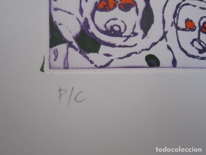 Arte: Multitud - Grabado de GAP (Guillermo Antón Pardo) - 39x49,5cm - Aguatinta al azúcar coloreada a mano - Foto 3 - 194227953