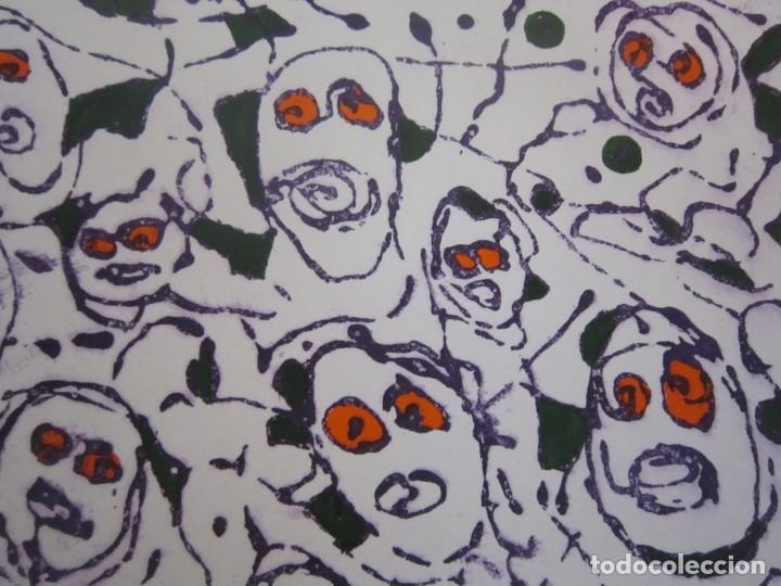 Arte: Multitud - Grabado de GAP (Guillermo Antón Pardo) - 39x49,5cm - Aguatinta al azúcar coloreada a mano - Foto 8 - 194227953