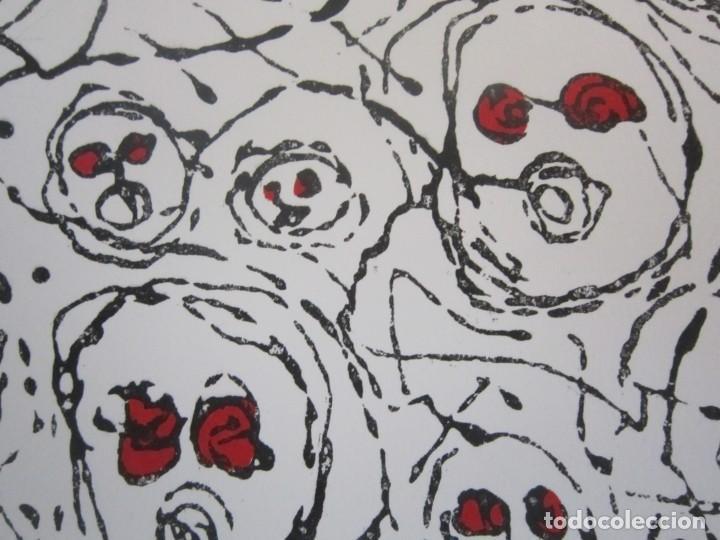 Arte: Multitud - Grabado de GAP (Guillermo Antón Pardo) - 39x49,5cm - Aguatinta al azúcar coloreada a mano - Foto 2 - 194228343