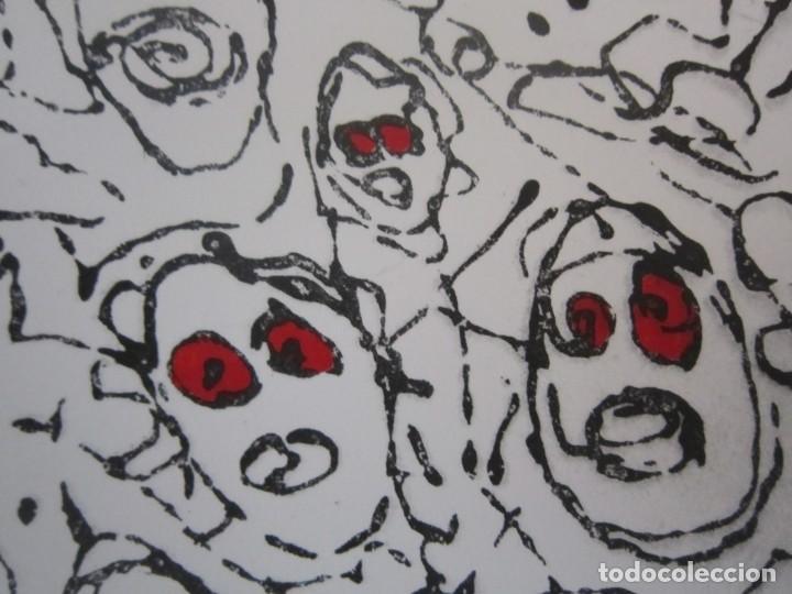 Arte: Multitud - Grabado de GAP (Guillermo Antón Pardo) - 39x49,5cm - Aguatinta al azúcar coloreada a mano - Foto 3 - 194228343
