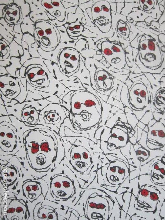 Arte: Multitud - Grabado de GAP (Guillermo Antón Pardo) - 39x49,5cm - Aguatinta al azúcar coloreada a mano - Foto 5 - 194228343