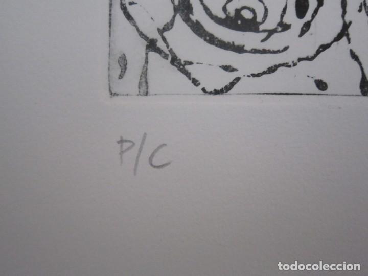 Arte: Multitud - Grabado de GAP (Guillermo Antón Pardo) - 39x49,5cm - Aguatinta al azúcar coloreada a mano - Foto 6 - 194228343