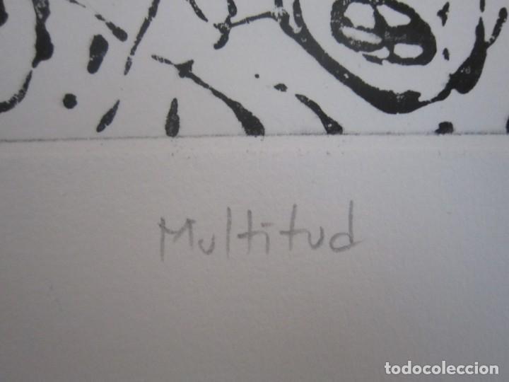 Arte: Multitud - Grabado de GAP (Guillermo Antón Pardo) - 39x49,5cm - Aguatinta al azúcar coloreada a mano - Foto 7 - 194228343