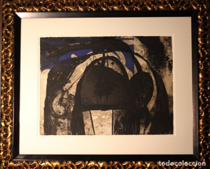 JOAN MIRO-CERTIFICADO- GRABADO CARBORUNDUM FIRMADO Y NUMERADO POR EL ARTISTA (Arte - Grabados - Contemporáneos siglo XX)