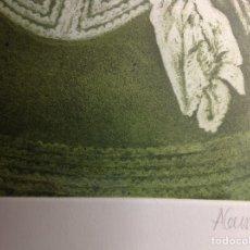 Arte: AGUAFUERTE MENINA EN CAJA DE METACRILATO. Lote 194236735