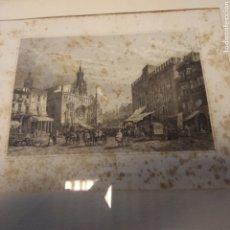 Arte: VALENCE - MERCADO DE VALENCIA - SEGUN DIBUJO DE DAVID ROBERTS - 1843. Lote 194275270