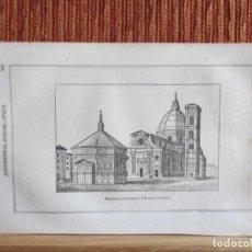 Arte: 1848-CATEDRAL DE FLORENCIA.ITALIA.SCENES AND SKETCHES IN CONTINENTAL EUROPE.GRABADO ORIGINAL. Lote 194276141
