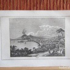 Arte: 1848-VISTA DE NÁPOLES Y VESUBIO.ITALIA.SCENES AND SKETCHES IN CONTINENTAL EUROPE.GRABADO ORIGINAL. Lote 194276626