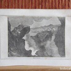 Arte: 1848-EL VESUBIO Y BAHÍA DE NAPOLES.ITALIA.SCENES AND SKETCHES IN CONTINENTAL EUROPE.GRABADO ORIGINAL. Lote 194276820