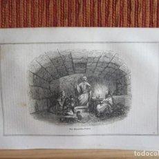 Arte: 1848-CÀRCEL MAMERTINA.PRISIONEROS ILUSTRES.ROMA.IGLESIA SAN JOSÉ.ITALIA.GRABADO ORIGINAL. Lote 194278988