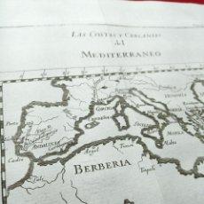 Arte: ANTIGUO GRABADO SOBRE LAS COSTAS Y CERCANÍAS DEL MEDITERRANEO. MAPAS. EUROPA. 1771. ABAD M. PLUCHE.. Lote 194310511
