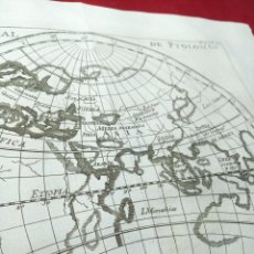 Arte: ANTIGUO GRABADO SOBRE LA CARTA UNIVERSAL DE PTOLOMEO. MAPA DEL MUNDO. 1771. ABAD M. PLUCHE.. Lote 194310745