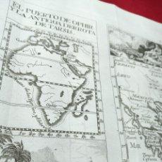 Arte: ANTIGUO GRABADO DEL PUERTO DE OPHIR Y LA ANTIGUA DERROTA DE TARSIS. GRECIA. 1771. ABAD M. PLUCHE.. Lote 194310931