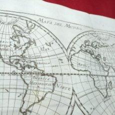Arte: ANTIGUO GRABADO DEL MAPA DEL MUNDO EN DOS MITADES. 1771. ABAD M. PLUCHE.. Lote 194311190